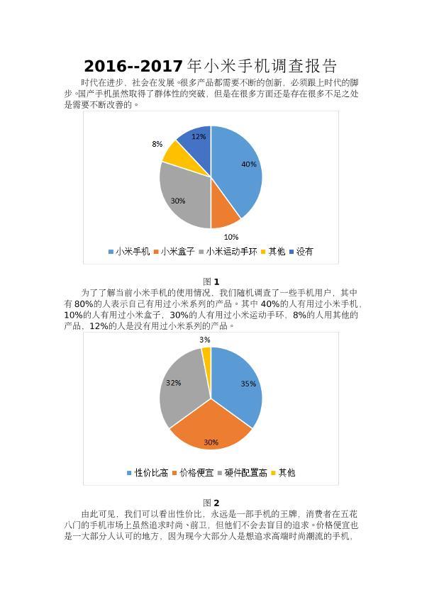 2016--2017年小米手机调查报告